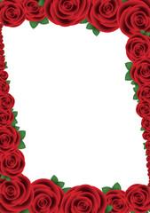 Cornice di rose