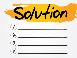 Solution Blank List, vector concept background