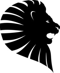 Fototapete - lion head tattoo