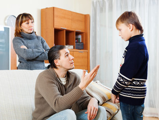 ordinary parents berating teenager son