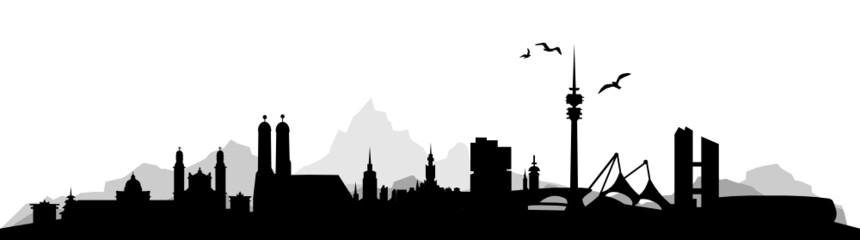 Wall Mural - Skyline München