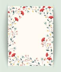 retro beautiful flower background