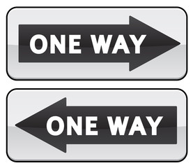 One Way traffic sign image