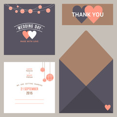 Vector design template of wedding invitation