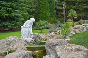 "Statue of a woman in the park ""Aivazovsky"" Partenit, Crimea"