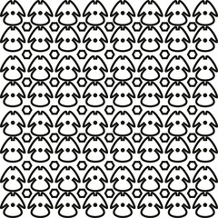 Abstract geometric seamless pattern. Black and white pattern .