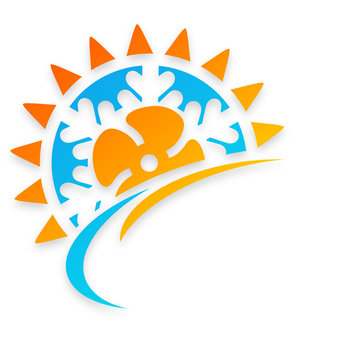 logo climatisation réversible ventilation chauffage