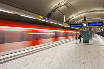 U-Bahn Zug Verkehr