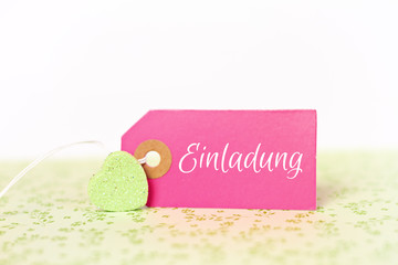 lovely greeting card - invitation