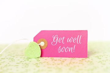 lovely greeting card - get well soon