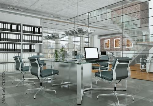modernes b ro im loft stockfotos und lizenzfreie bilder auf bild 78363700. Black Bedroom Furniture Sets. Home Design Ideas