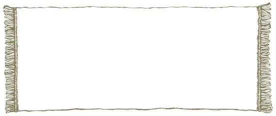 Vector frame. Towel with fringe