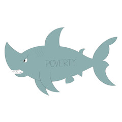 Poverty vector illustration