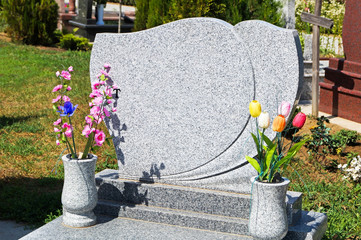 Printed roller blinds Cemetery Tombstone in the cemetery