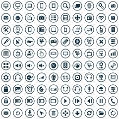 100 device icons.