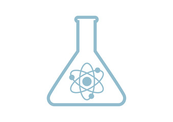 Laboratory glass icon on white background