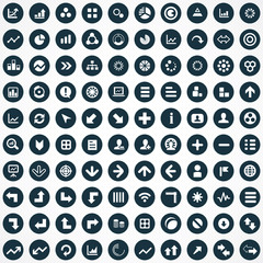 100 diagram icons.