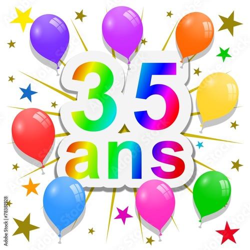 Anniversaire 35 Ans Photo Libre De Droits Sur La Banque D Images