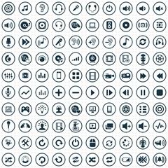 100 dj icons.