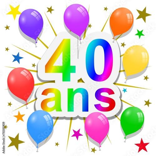"""""""Anniversaire, 40 ans"""" photo libre de droits sur la banque d'images Fotolia.com - Image 78383909"""