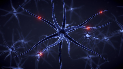 Brain cell with neurons