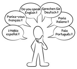 Welche Sprache sprechen Sie ?