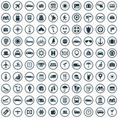 100 travel icons.