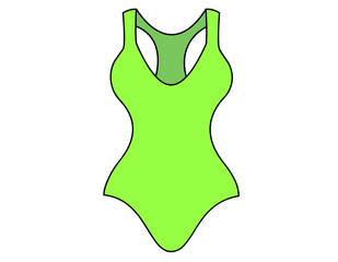 swimsuit green color