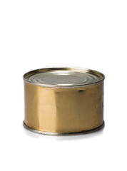 canning tin can on a gray background