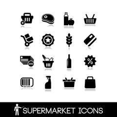 Supermarket icons set6