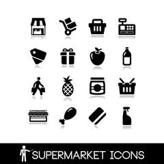 Supermarket icons set7