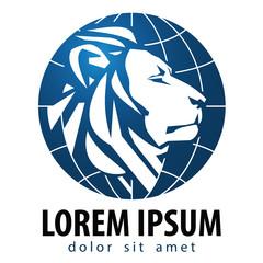 Lion vector logo design template. Leo or animals icon.