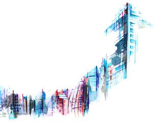Foto auf Leinwand Gemälde architecture