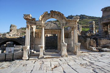 the ruins of the ancient city of Ephesus, Turkey
