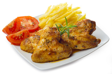 Pollo como almuerzo