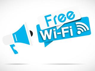 megaphone : free wifi