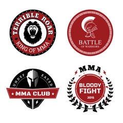 MMA Labels - Mixed Martial Arts Design