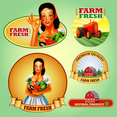 stickers farm vegetables