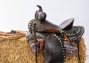 Western Gear Artist's Saddle Tack Gloves Rope Hay Bale