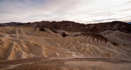 Dramatic Light Badlands Amargosa Mountain Range Death Valley