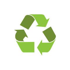 recycle symbol logo icon with shadow vector
