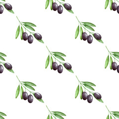 olives seamless pattern