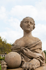 Sculpture of a sphinx on Big terrace of Massandra palace