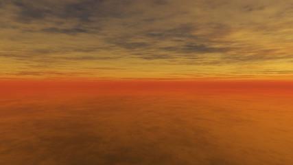 Wolkiger Sonnenuntergang 4