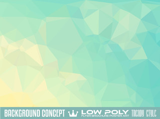 Low Poly trangular trendy Art background for your flyer