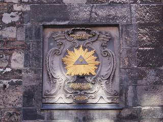 Aachen Eingang Münster Tafel