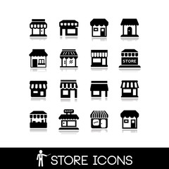 Store icons.Commercial symbol. Shop icons.