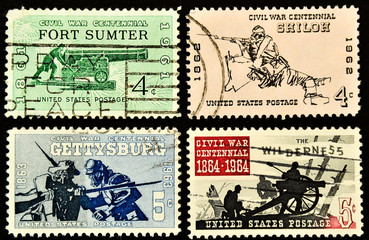 Postage stamps from USA