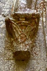 detail internal portal Castel del Monte, Unesco heritage. Italy