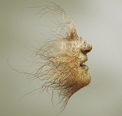 head made of branches